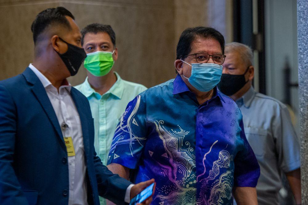 Datuk Seri Tengku Adnan Tengku Mansor arrives at the Palace of Justice in Putrajaya, April 22, 2021. — Picture by Shafwan Zaidon