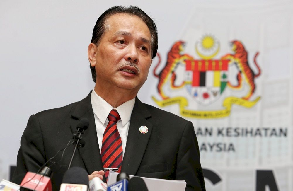 Health director-general Tan Sri Dr Noor Hisham Abdullah in a statement said the total number of infections now stands at 367,977. — Picture by Choo Choy May