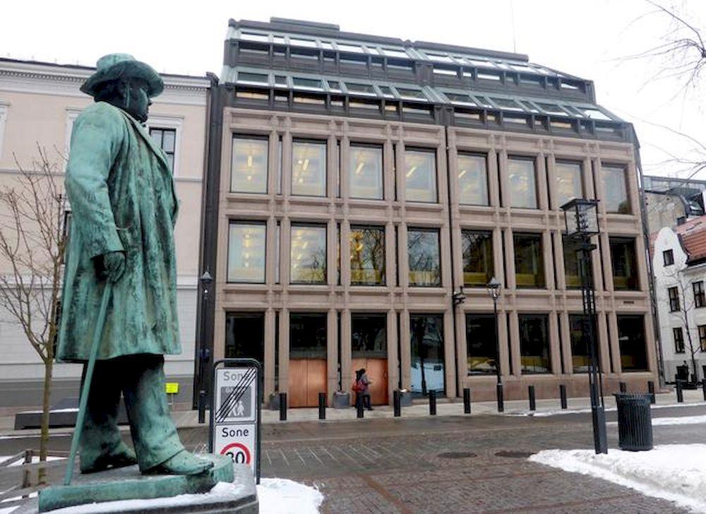 Pandangan umum mengenai bank pusat Norway, di mana dana kekayaan berdaulat Norway berada, di Oslo, Norway, 6 Mac 2018. - Gambar Reuters