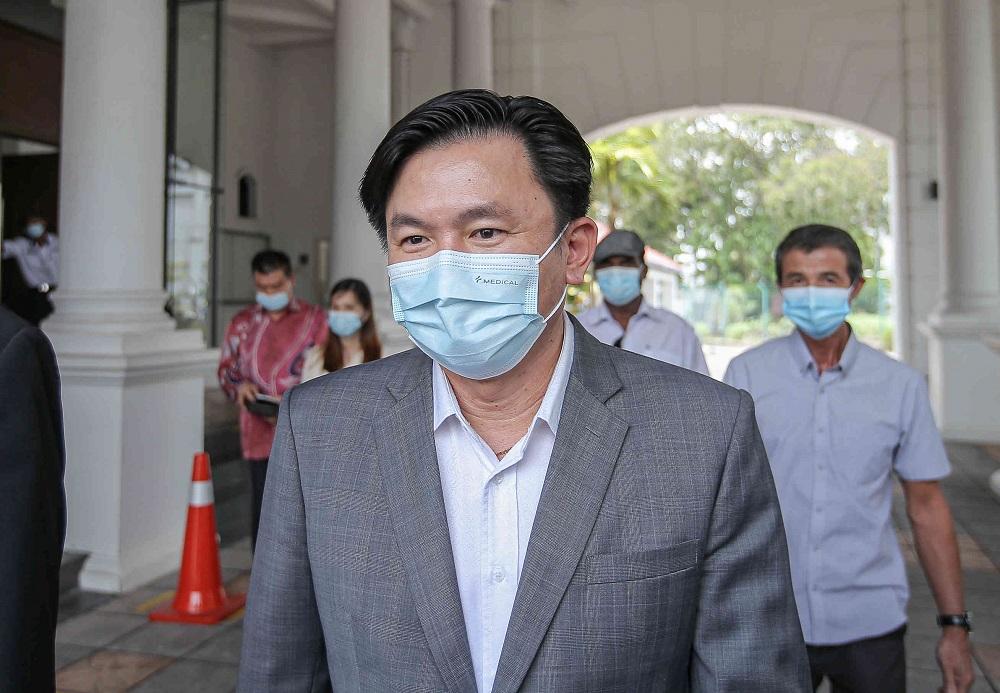 杨祖强被控性侵印尼女佣案续审,控方将为两名证人申请保护令。-Farhan Najib摄-