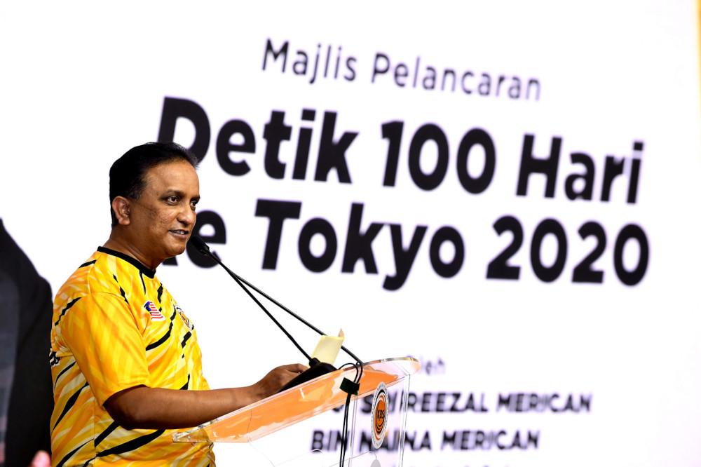 Youth and Sports Minister Datuk Seri Reezal Merican Naina Merican said Malaysian athletes were 'highly driven'. — Bernama pic