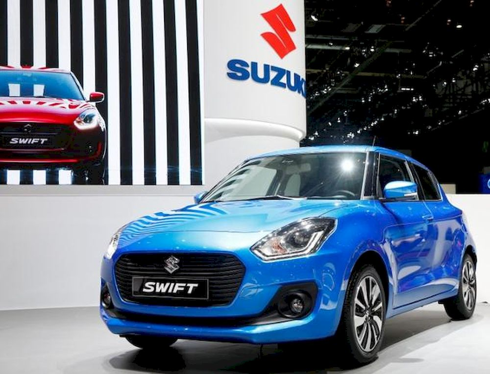 A Suzuki Swift car is seen during the 87th International Motor Show at Palexpo in Geneva, Switzerland March 8, 2017. — Reuters pic