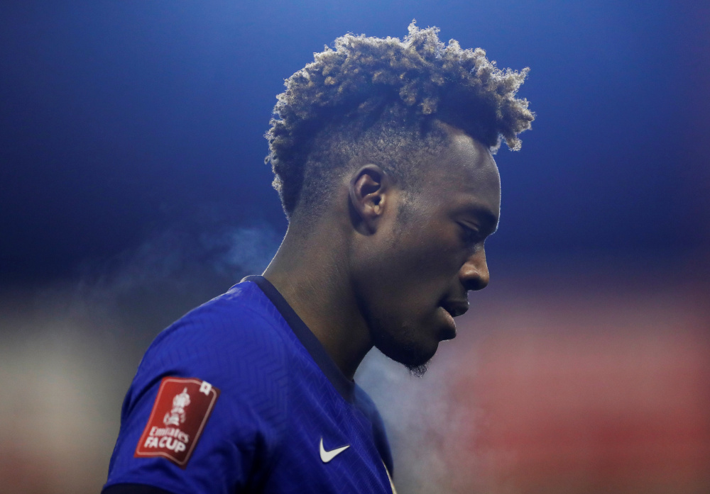 Chelsea's Tammy Abraham during a match against Barnsley at Oakwell, Barnsley, Britain, February 11, 2021. — Action Images via Reuters