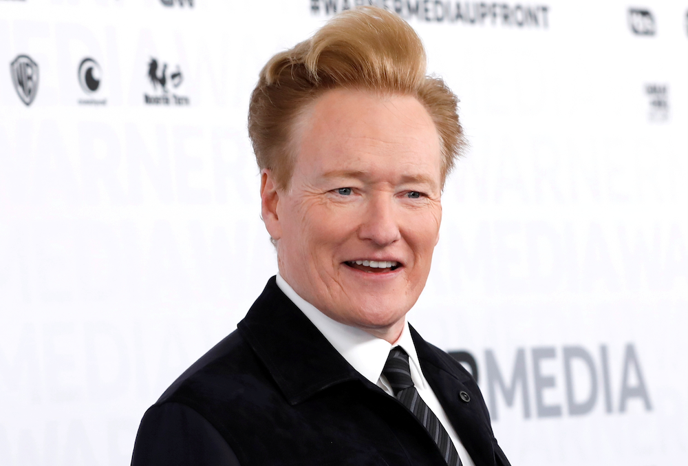 Comedian Conan O'Brien poses as he arrives at the WarnerMedia Upfront event in New York City, New York May 15, 2019. — Reuters pic