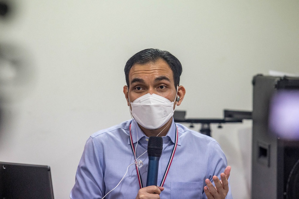 Lawyer Syahredzan Johan said a vote in Parliament is the most open and transparent way because the sittings are broadcast live and also would be on official records via the Hansard. — Picture by Firdaus Latif