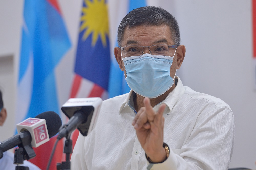 PKR secretary-general Datuk Seri Saifuddin Nasution Ismail speaks during a press conference at the party's HQ in Petaling Jaya May 3, 2021. — Picture by Miera Zulyana