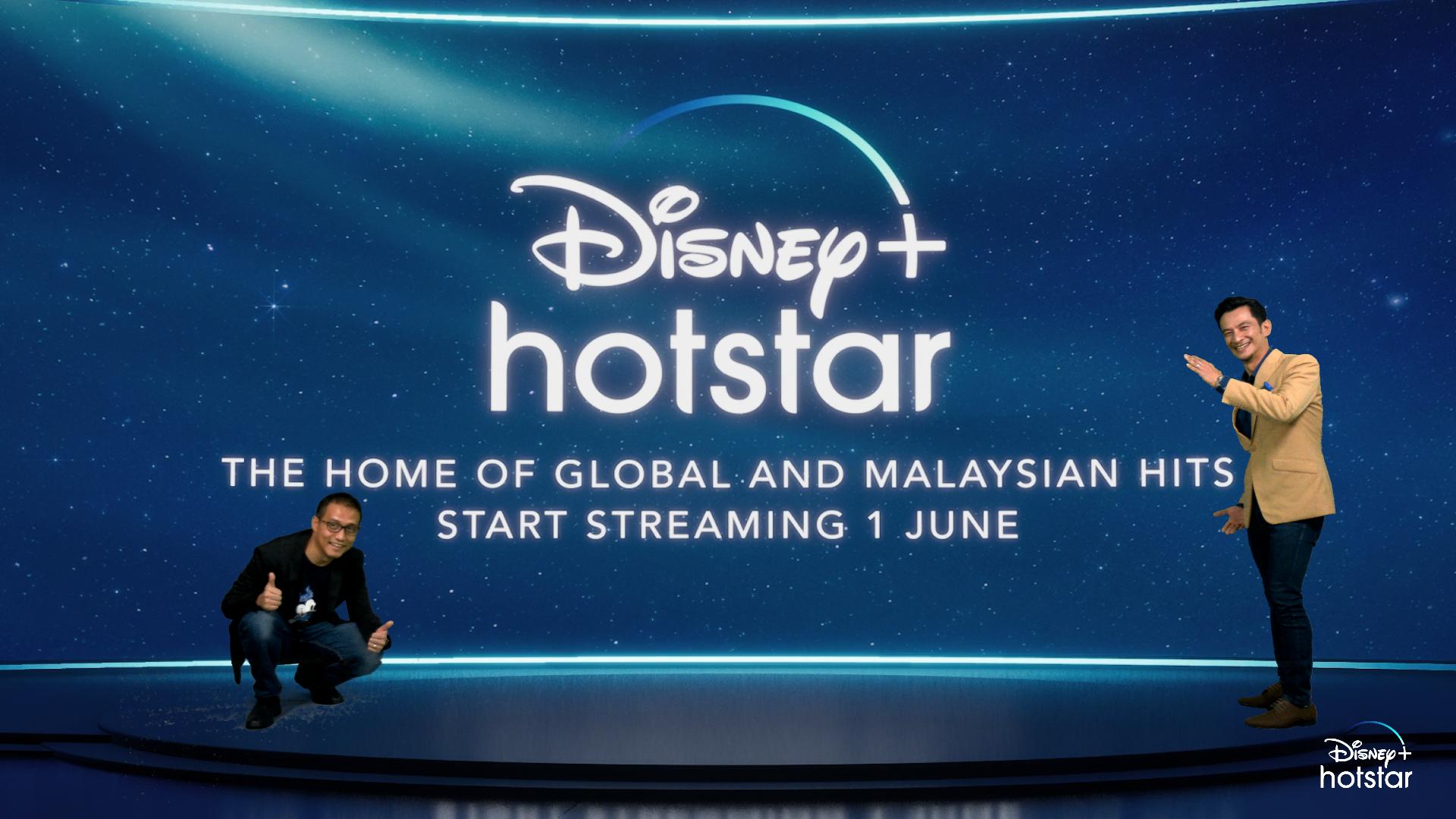 阿末依占(左起)和主持人纳兹鲁丁(Nazrudin Rahman)出席Disney+ Hotstar线上推介礼。-Disney+ Hotstar提供-