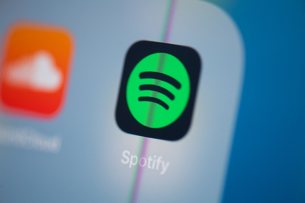 Spotify users will be able to share their favourite moments from a podcast on WhatsApp, Instagram, Facebook, Twitter, Snapchat and via messages. — AFP pic
