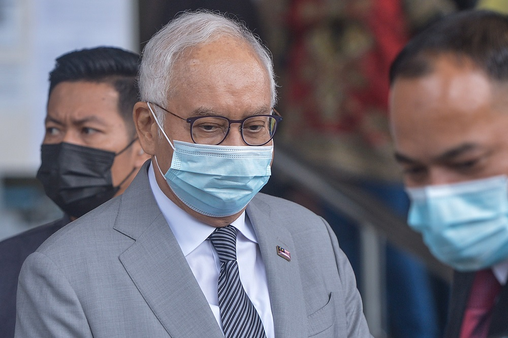 On October 24, 2018, Datuk Seri Najib Razak, 67, and Tan Sri Mohd Irwan Serigar, 64, pleaded not guilty to six charges of CBT of RM6.6 billion in government funds involving payments to International Petroleum Investment Company (IPIC). — Picture by Miera Zulyana