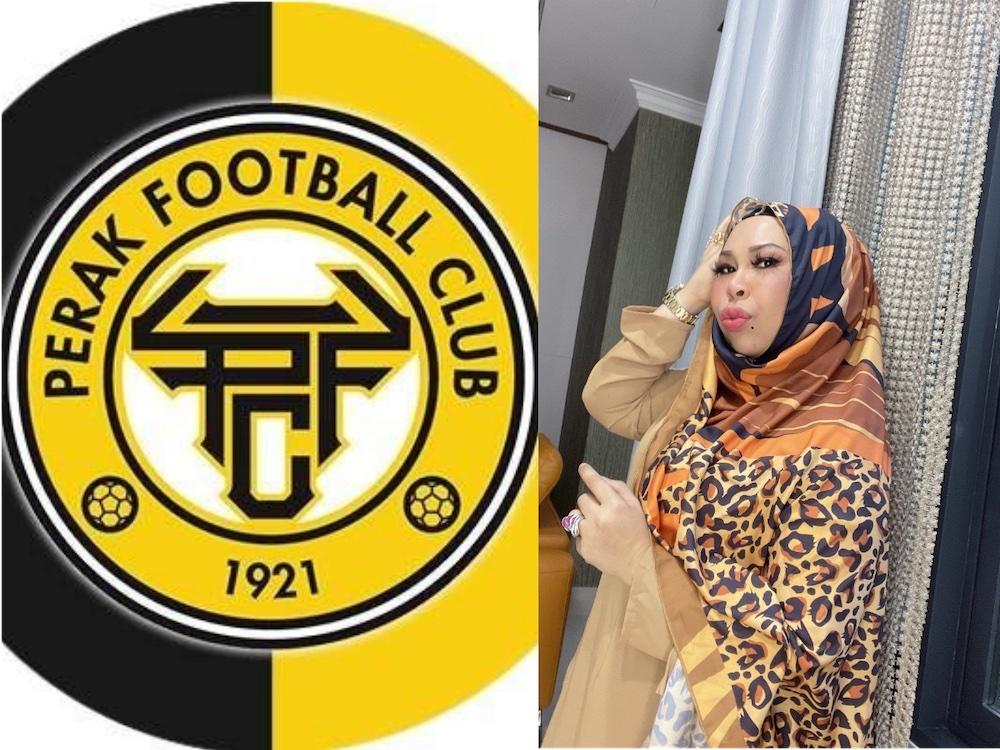 Cosmetic tycoon Datuk Seri Vida has shown interest in taking over local football club, Perak FC. —Photo courtesy of Instagram and Facebook/ Dato Seri Vida and Perak FC