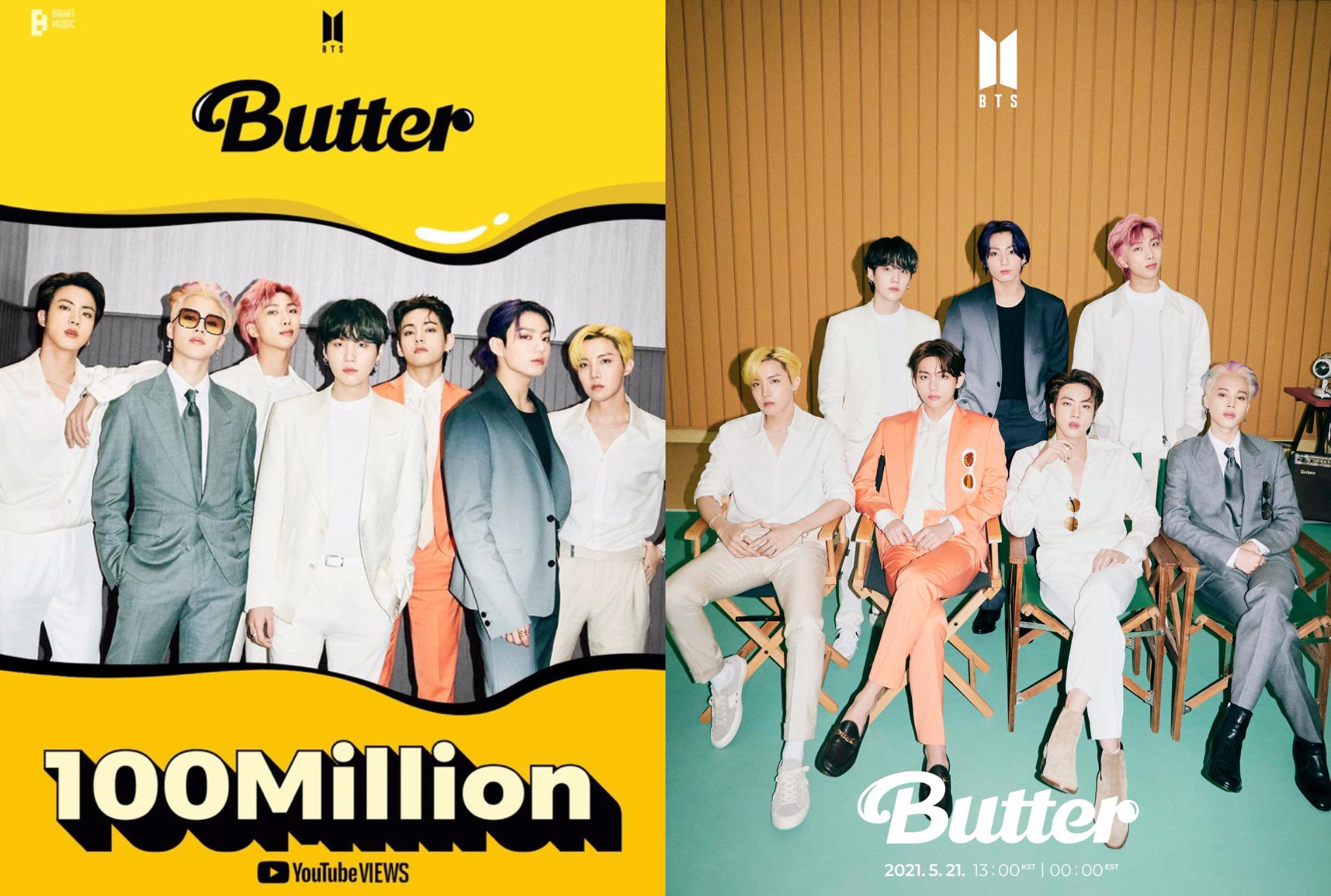 防弹少年团《Butter》音乐视频点击率,在短短21小时破亿!-图摘自@Kpop_Herald/@bts_bighit-