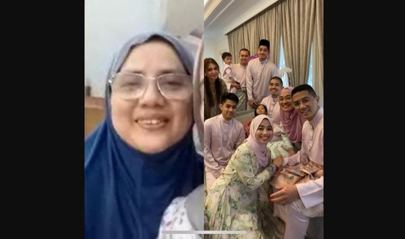 阿兹敏日前在社交媒体上载与家人团聚的照片,引起网民质疑。-图撷取自阿兹敏面子书-