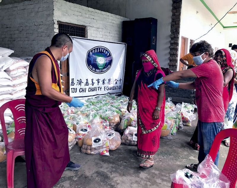 Tzu Chi foundation in collaboration with other organisations in India have supplied over 940,000 provisions to the needy as of April 10, 2021. — Picture courtesy of Tzu Chi Foundation