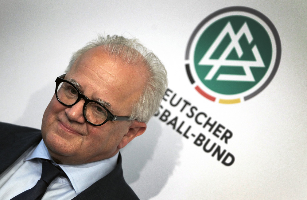 In this file photo taken September 27, 2019 president of the German football federation DFB, Fritz Keller attends a press conference in Frankfurt am Main, Germany. — AFP pic