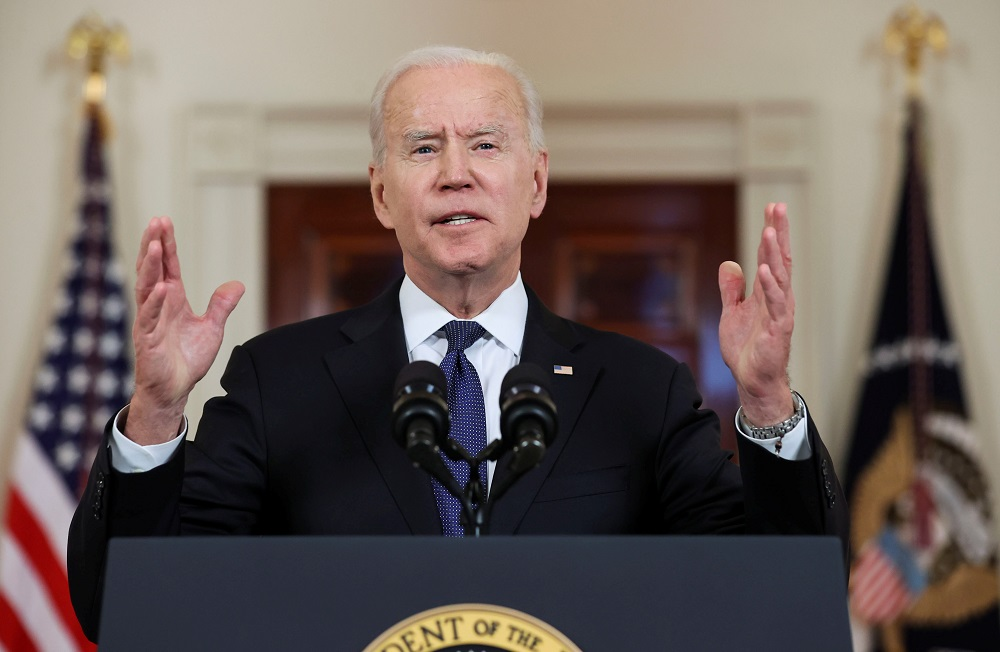 Democrats see Biden as seeking to rebalance the judiciary after four years of his predecessor Donald Trump. ― Reuters pic