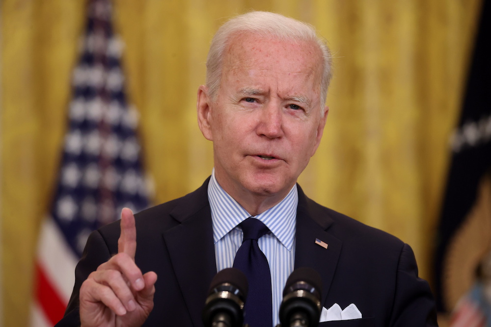 The flare-up in violence is putting Biden on a tightrope not only diplomatically but also at home. ― Reuters pic