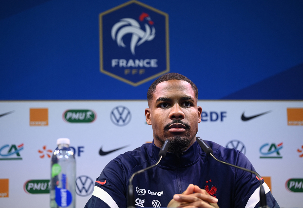 France's goalkeeper Mike Maignan gives a press conference in Clairefontaine-en-Yvelines May 27, 2021, as part of the team's preparation for the upcoming Uefa Euro 2020 football tournament. — AFP pic