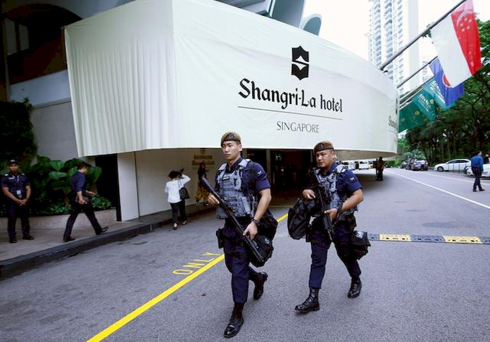 File picture shows Gurkhas patrolling at the IISS Shangri-la Dialogue in Singapore June 1, 2018. — Reuters pic