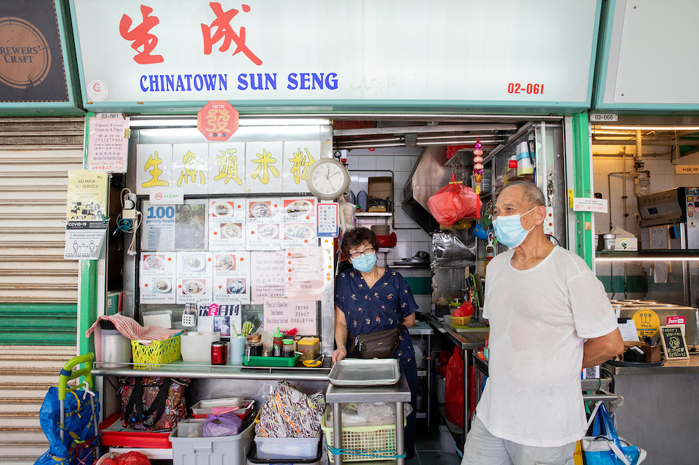 Long-time hawkers Arthur Wong, 75, and his wife Loh Mei Ling, 70, were entertaining the thoughts of joining WhyQ and starting a Facebook page for their hawker stall, Chinatown Sun Seng Gourmet's Corner, which sells dishes such as fried rice, hor fun and