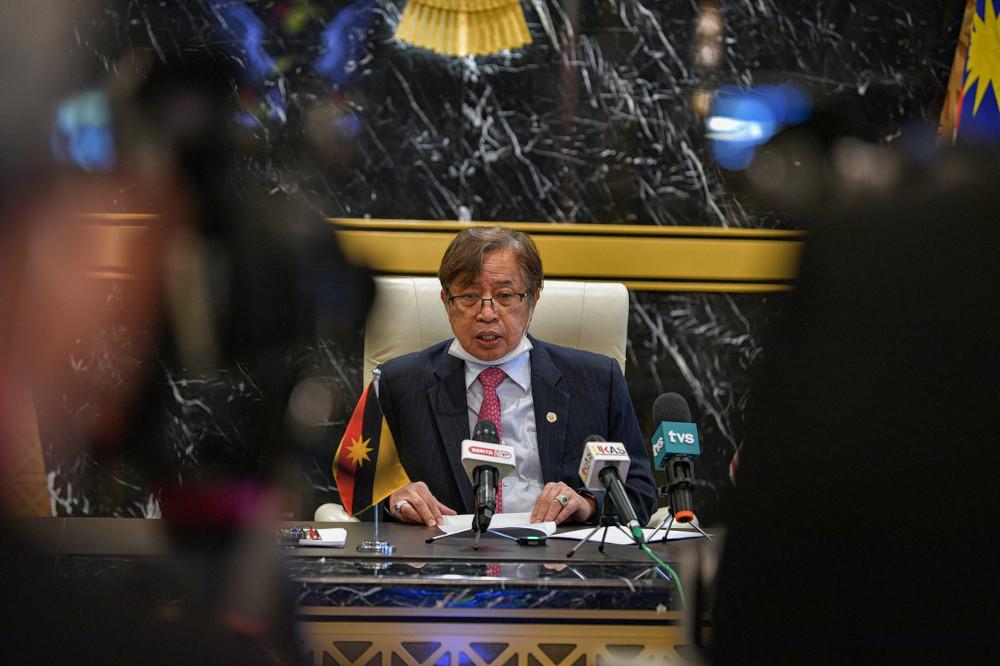 The elder brother of Sarawak Chief Minister Datuk Patinggi Abang Johari Openg died tonight at about 8.30pm of a heart attack. — Bernama pic
