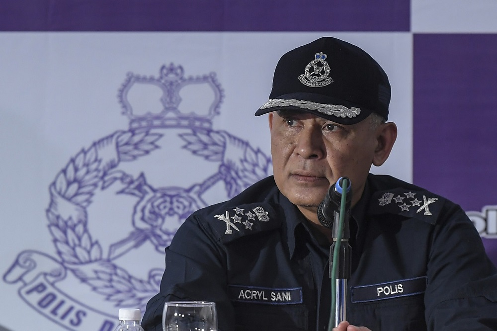 Datuk Seri Acryl Sani Abdullah Sani said the police has shortlisted candidates to fill the vacancy for the post of Deputy Inspector General of Police. ― Bernama pic