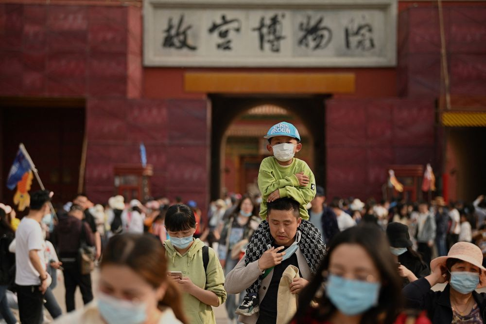 People visit the Forbidden City in Beijing during the Labour Day holidays. — ETX Studio ouc
