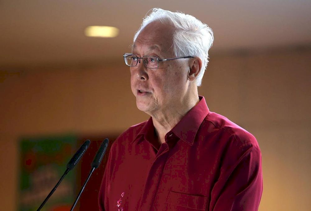 Emeritus Senior Minister Goh Chok Tong, who touched on the subject of political succession at the launch of both the first volume of his biography, in November 2018, and the second volume, on May 7, 2021. — TODAY pic