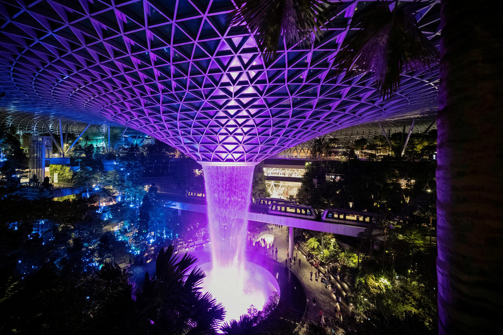 Jewel Changi Airport and the airport's passenger terminal buildings will be closed to all members of the public from May 13 to 27, 2021. ― Reuters pic