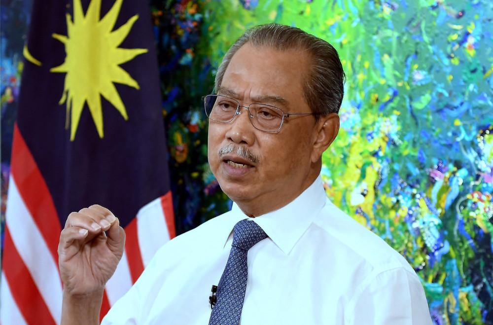 Prime Minister Tan Sri Muhyiddin Yassin delivered the movement control order (MCO) 3.0 Assistance Special Message which was broadcast live in Putrajaya, May 31, 2021. — Bernama pic