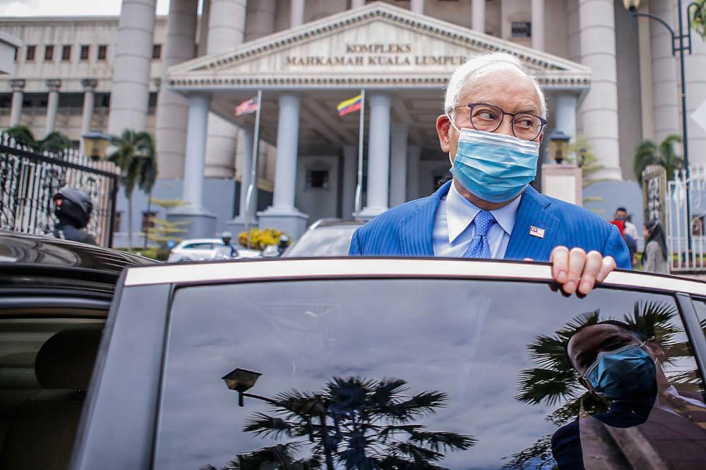 Former prime minister Datuk Seri Najib Razak is pictured at Kuala Lumpur High Court May 20, 2021. ― Picture by Hari Anggara