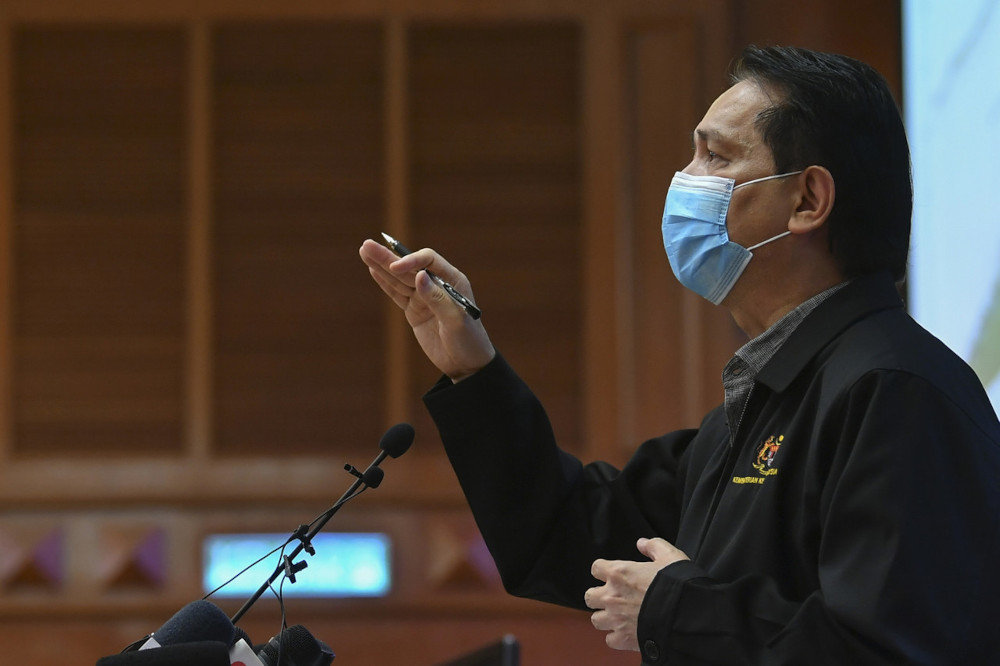 Health director-general Tan Sri Dr Noor Hisham Abdullah said with the 14 new cases, Malaysia has detected 62 patients carrying variants of SARS-CoV-2, the coronavirus that causes Covid-19. — Bernama pic