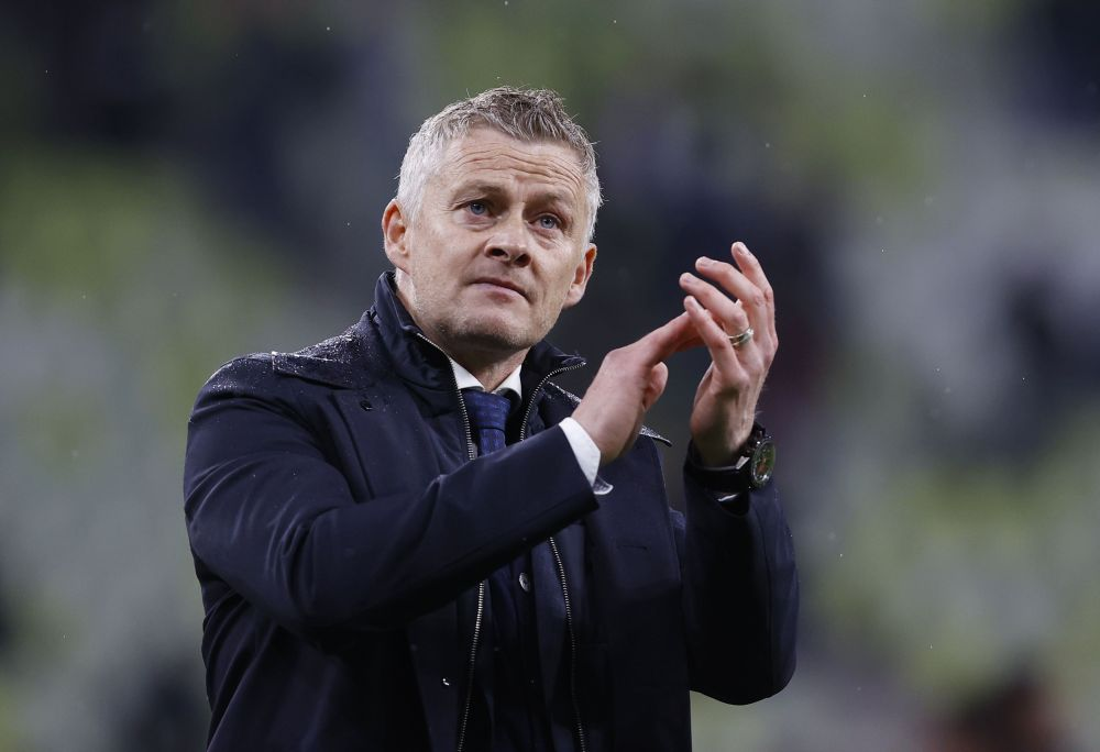 Manchester United manager Ole Gunnar Solskjaer applauds fans after the match against Villarreal at the Polsat Plus Arena in Gdansk May 26, 2021. — Reuters pic