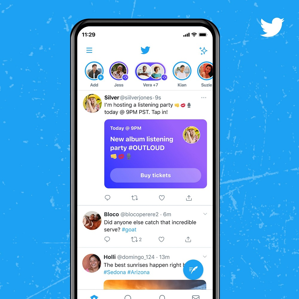 Twitter will offer some users the opportunity to host pay-in, audio chatrooms called Ticketed Spaces. ― Picture courtesy of Twitter via ETX Studio