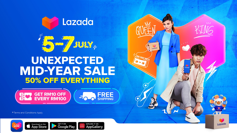 "Lazada将于7月5日至7月7日,举办Lazada""出乎意料的年中促销""(Unexpected Mid-Year Sale)。-Lazada提供-"