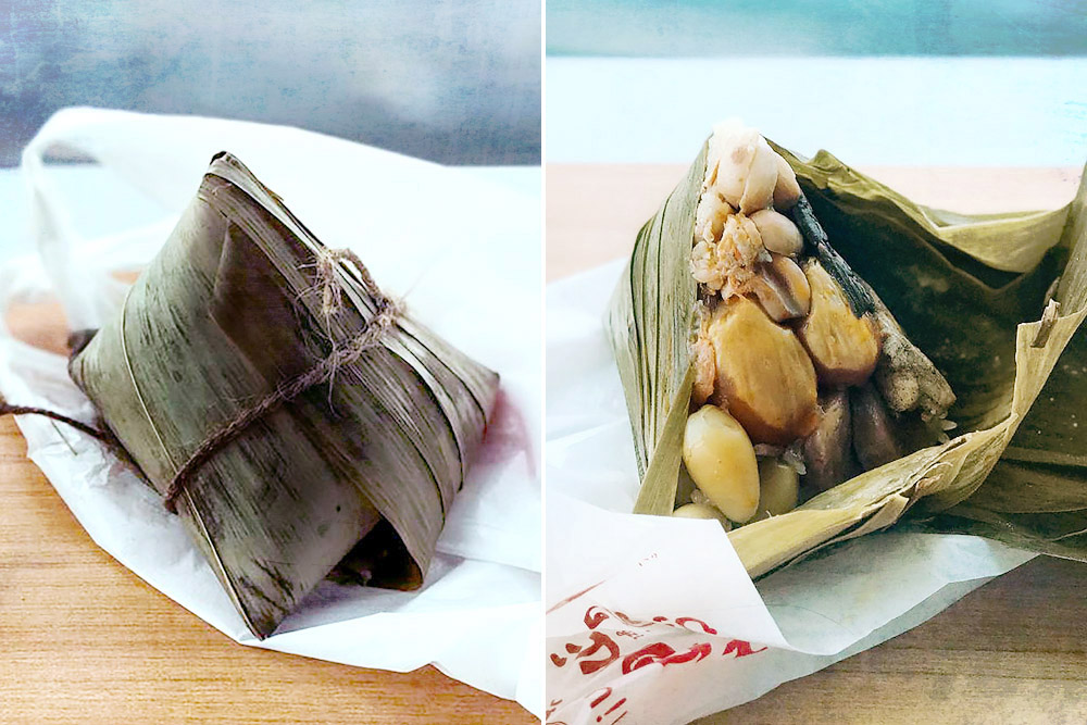 The rich and substantial 'bak chang' has become a new favourite in later years.