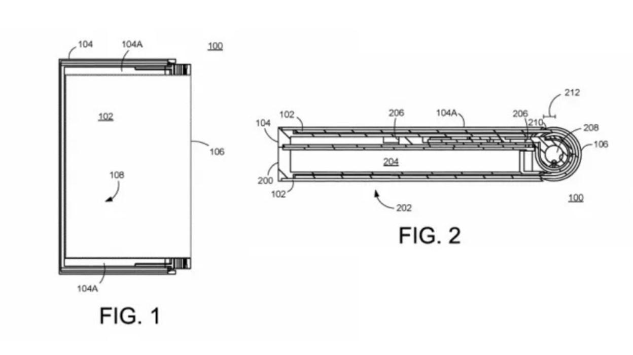 谷歌早前申请的可折叠专利之一。-图取自SoyaCincau-