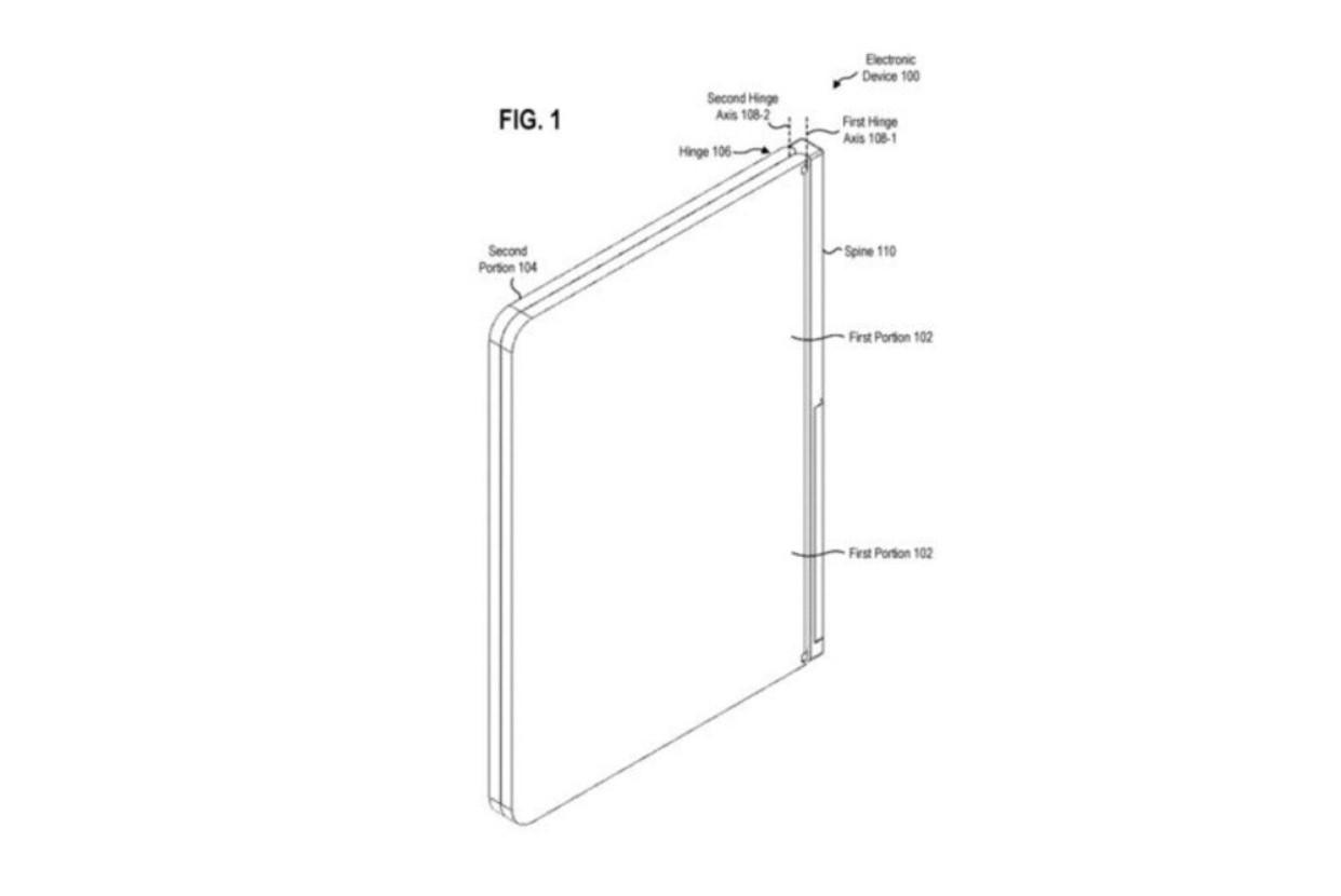 微软双屏设备支架专利。-图取自SoyaCincau-