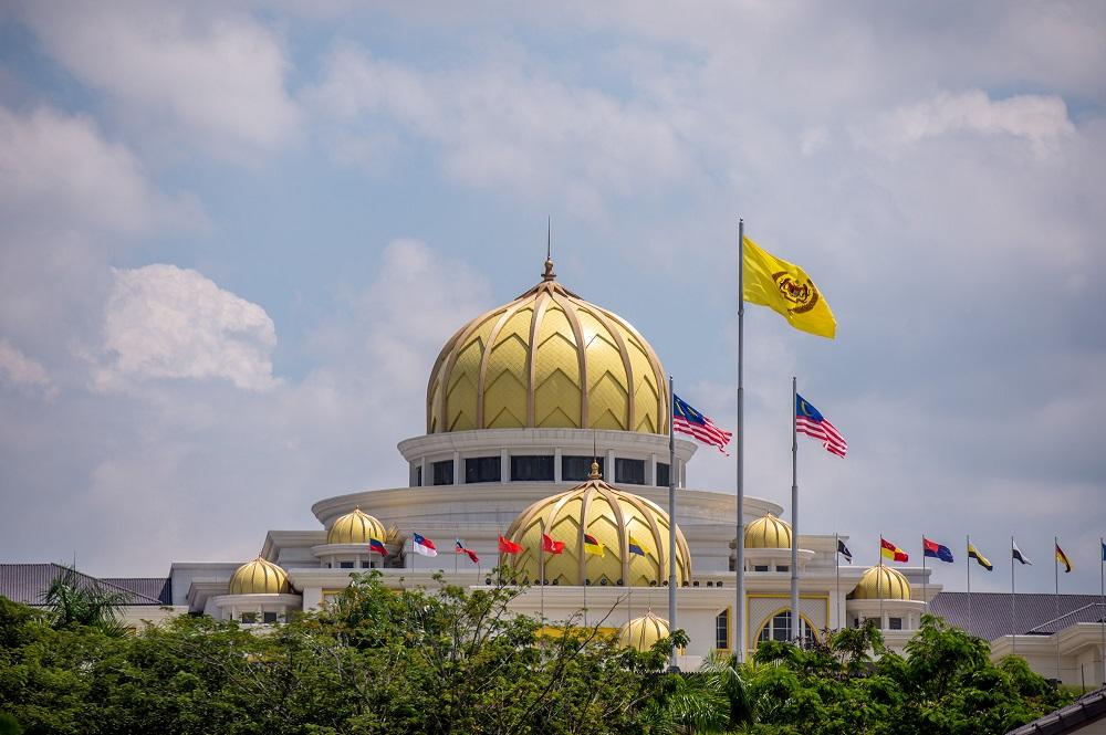 A general view of Istana Negara in Kuala Lumpur June 15, 2021. — Picture by Shafwan Zaidon