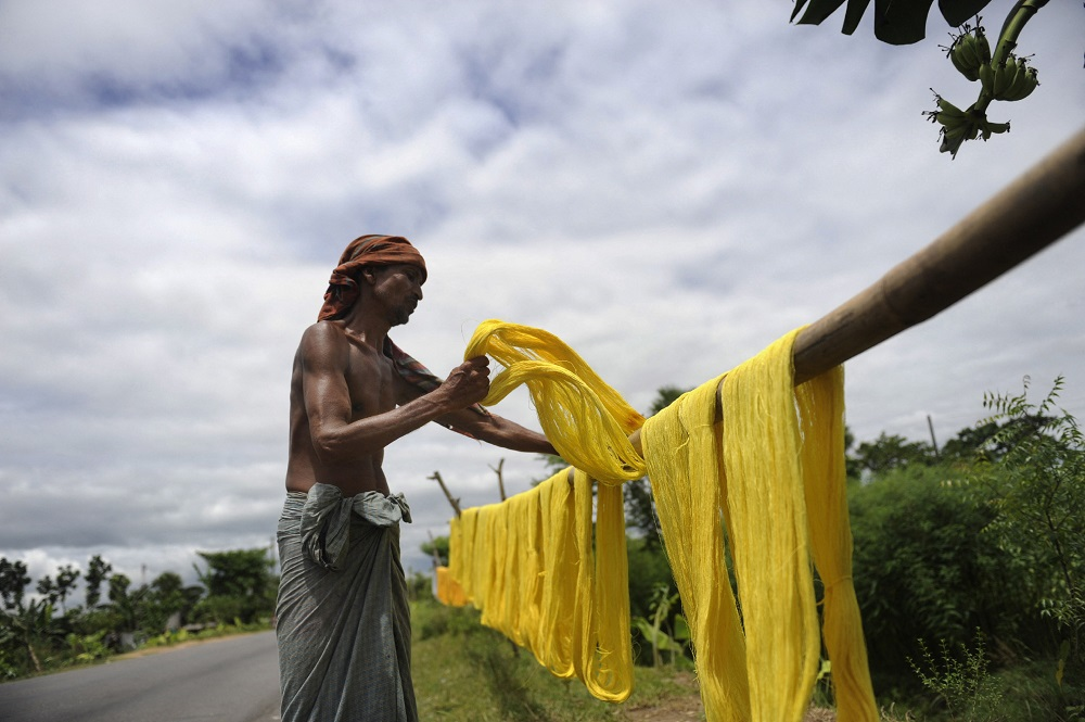 Recycling cotton waste could result in significant savings for Bangladesh. — AFP pic