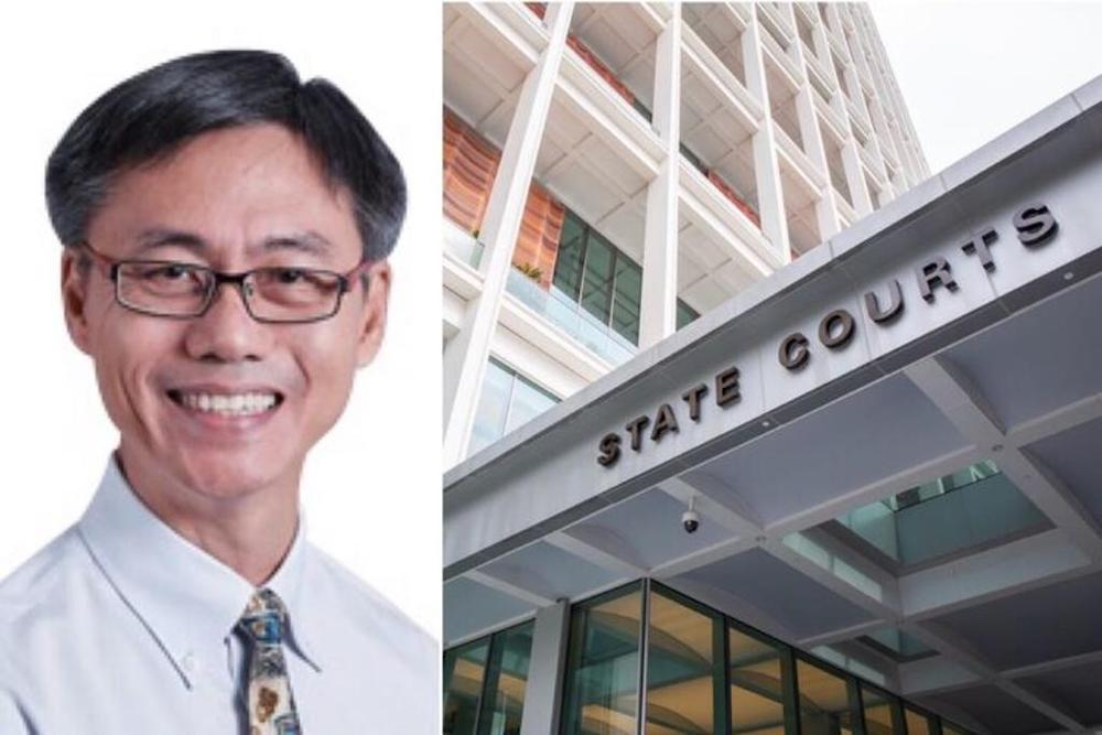 Alex Goei Beng Guan, 62, (left), the chief executive officer of SBS Transit DTL, which operates the Downtown Line, faces two traffic charges in the State Courts. — Composite pic of SBS Transit/TODAY file pic