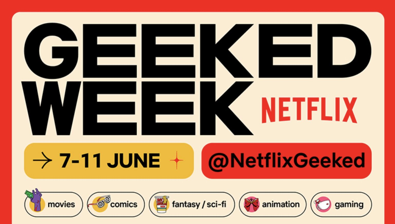 """Netflix以全新方式启动""""极客周""""(Geeked Week)!-图摘自Soya Cincau-"""