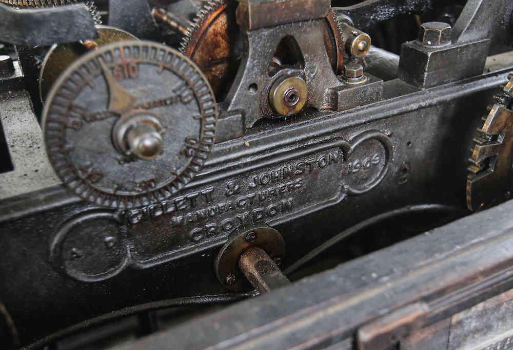The century-old clock tower runs on driving mechanics. — Picture by Farhan Najib