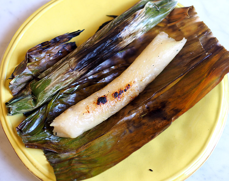 'Pulut panggang ikan' is smoky and slighty chewy but delicious with the sweet tasting flaked fish.