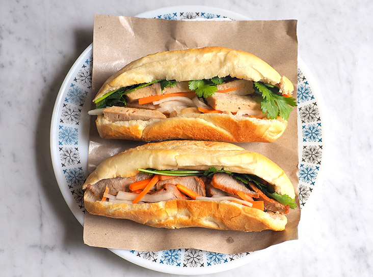 Go Vietnam's 'banh mi' is enhanced by its airy homemade baked baguette paired with (top) pâté and ham, or (bottom) sliced 'char siu'. – Pictures by Lee Khang Yi