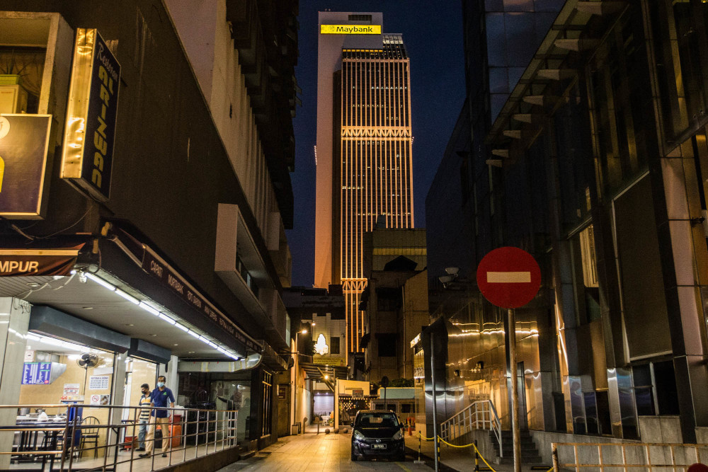 General view of Maybank Tower in Kuala Lumpur, June 24, 2021. — Picture by Firdaus Latif