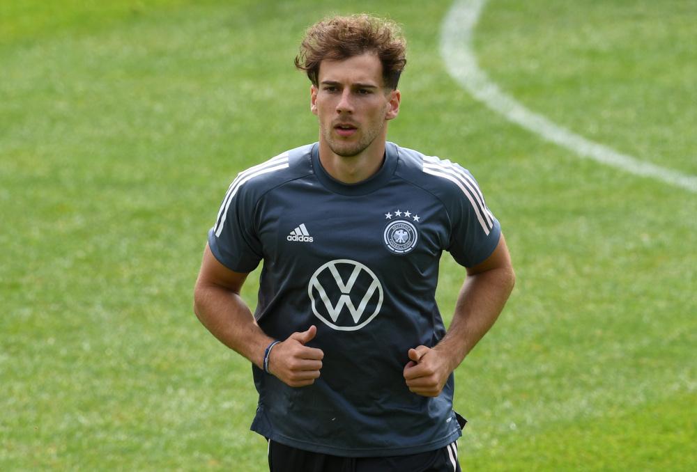 Germany's Leon Goretzka during training at Seefeld, Austria, June 4, 2021. — Reuters pic