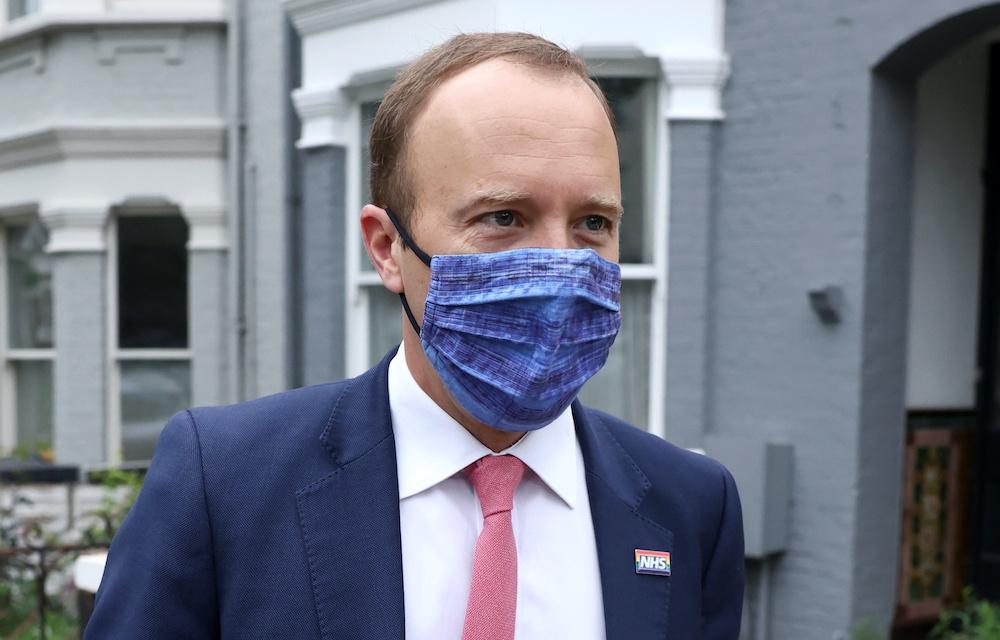Britain's Health Secretary Matt Hancock leaves his house, in London, Britain June 17, 2021. — Reuters pic