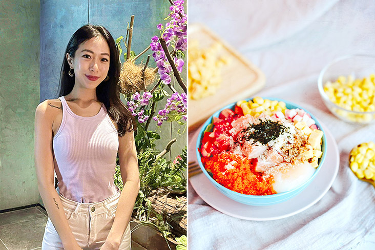 Mich'sology founder Michelle Lee and her signature Fuel Bowl.