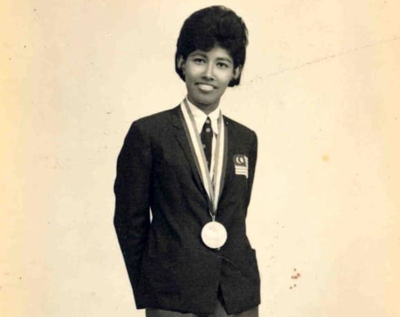 Rajemah Sheikh Ahmad won a silver medal in her pet event, the women's 80-metre hurdles, at the third South-east Asian Peninsular (SEAP) Games in Kuala Lumpur in 1965 besides being part of the quartet that earned a bronze in the 4x100m event with Datuk M. Rajamani, P. Savathri and Cheryl Dorall at the 1966 Bangkok Asiad. — Picture from Facebook/Olympic Council of Malaysia
