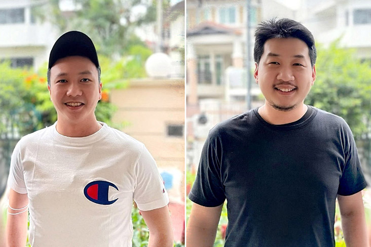 Best friends and co-founders of Shoyu Bros: Ley Vin Khoo (left) and Bryan Tan (right).